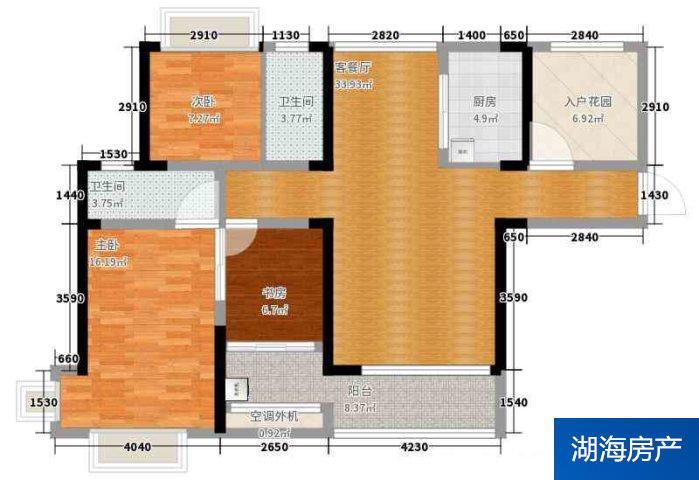 銀川興慶府大院二手房~精裝兩居價格92萬